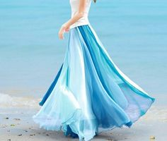Chiffon skirt Maxi Skirt Long Skirt Maxi Dress -LOVE IT!!!!