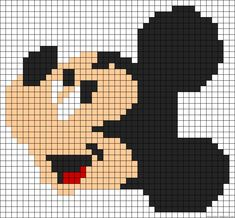 MIckey Mouse perler bead pattern