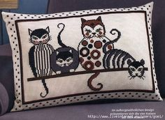 Cross stitch cats, pin 1 of 3 Cat Cross Stitches, Counted Cross Stitch Kits, Cross Stitching, Cross Stitch Embroidery, Cross Stitch Designs, Cross Stitch Patterns, Blackwork, Cross Stitch Pillow, Cross Stitch Pictures