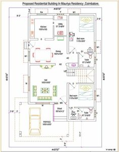 40x80 Houe Plan G 15 Islamabad House Map And Drawings
