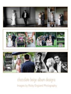 Robert & Jaymi-Lee are now on the blog - 8x12 flushmount wedding album, images by Ricky England Photography album printed by Photo Mounts & Albums Australia