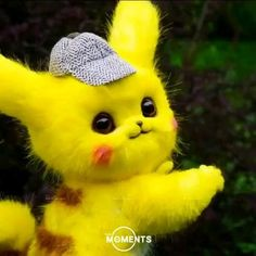 Cute Bunny Cartoon, Cute Kawaii Animals, Baby Animals Super Cute, Cute Baby Dogs, Cute Cartoon Pictures, Pikachu Cat, Pikachu Memes, Cute Pikachu, Pyssla Pokemon