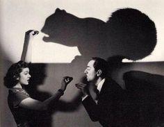 Myrna Loy and William Powell, 1930s. #shadowpuppets