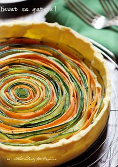 Vegetable tart: 5-6 carrots, 2 zucchini, 4-5 TBSP olive oil, 1 tart pastry dough, thyme, salt, pepper.  Preheat to 180°, bake for 30 minutes. |  Recipedapted from Sonia Ezgulian  |  Photography: Irina  |  via:  What Liberty Ate Magazine (#1)