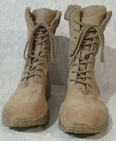 Combat Boots Desert Tan Side Zipper Size 12 Deployment Rothco 5357 #Rothco #DesertBoots