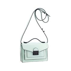 Loeffler Randall Mini Rider Bag Mint leather (€240) ❤ liked on Polyvore featuring bags, handbags, shoulder bags, shoulder handbags, leather shoulder bag, leather man bags, long strap shoulder bags and handbags crossbody