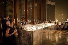 Mirrored bar at a Weylin B Seymour's wedding