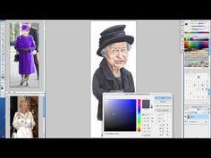 Vídeo: Amarildo fazendo caricatura da Rainha Elizabeth – Parte 2
