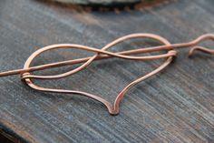 Hair slide hair barrette copper Infinity heart by Keepandcherish