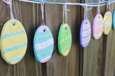 Salt dough egg garland