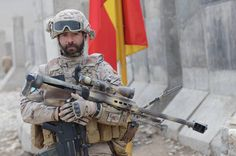 Tercios in Afghanistan : Spanish soldier with a Barrett M95, a bullpup 50 caliber bolt-action rifle. Note the HK G36; the rifle that replaced the CETME Modelo L. (GRH)