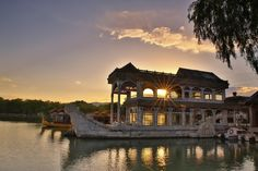 The Marble Boat is now the only western-style structure in the Summer Palace.