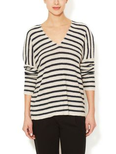 Linen Striped Sweater | Vince