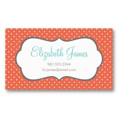 40 free and premium vintageretro style business card templates coral polka dot business card templates accmission Image collections