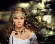 Brittany really made this concept work.  What a gorgeous pirate!