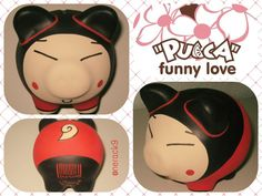 #Pucca funny love, #porky pintado a mano  By:@nerack9 Hand painted Ceramic #PorkyBank Personalized #HechoEnMexico