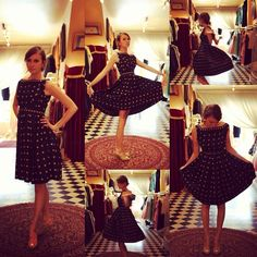 Oooo #staffpick!! Lyndal gives this new arrival 10/10! #1950s #navy #floral dress! #adorable #vintage #cabaret #vintage #50s #dressups #girly #fun #Padgram