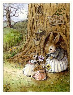 Rabbit Illustration, Illustration Art, Animal Drawings, Cute Drawings, Beatrix Potter Illustrations, Susan Wheeler, Peter Rabbit And Friends, Bunny Art, Bunny Drawing