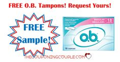 WOW!  FREE SAMPLE of OB Tampons! Request your full sized 18 count FREE sample now! While supplies last!  Click the link below to get all of the details ► http://www.thecouponingcouple.com/free-sample-o-b-tampons/ #Coupons #Couponing #CouponCommunity  Visit us at http://www.thecouponingcouple.com for more great posts!