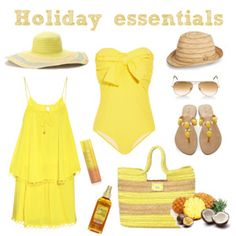 Holiday essentials in yellow