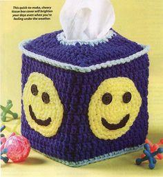 Quick-to-make, cheery tissue box cover.