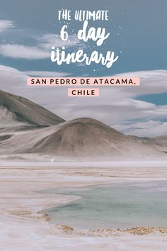 The Ultimate 6 Day San Pedro de Atacama Itinerary to Avoid Altitude Sickness – Live Like It's the We – south america destinations Travel Route, Travel Usa, Travel Tips, Travel Hacks, Travel Essentials, Travel Guides, Croatia Travel Guide, Thailand Travel Guide, South America Destinations
