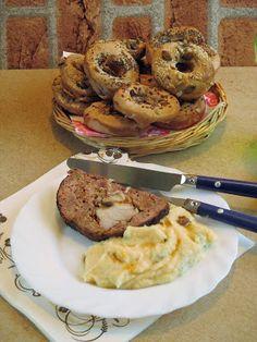 NoCarb pasztinákos fánk (bagel) | Klikk a képre a receptért! Bagel, Mashed Potatoes, Bread, Ethnic Recipes, Food, Whipped Potatoes, Essen, Breads, Baking
