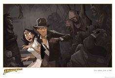 """Animated Indiana Jones Fan Film Coming This Month  An animated Indiana Jones fan film five years in the making is due to be released online on September 29.  According to SlashFilm several years ago artist Patrick Schoenmaker was commissioned by Lucasfilm and ACME Archives to create a """"print envisioning Indiana Jones as an animated cartoon.""""   Schoenmaker's original Indy cartoon print. Image credit: Patrick Schoenmaker  Continue reading  https://www.youtube.com/user/ScottDogGaming…"""