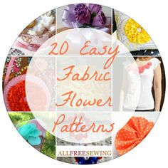 Once you know how to sew flowers from fabric, you'll love making all kinds of fabric flowers for yourself and as gifts.