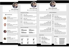 How To Make A Resume In Microsoft Word Prepossessing John Alexander Resume Template Timeline Colored Instant Download .