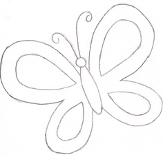 Butterfly Coloring Page - Template                                                                                                                                                      Más