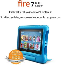 "Fire 7 Kids Edition Tablet, 7"" Display, 16 GB, Blue Kid-Proof Case #tablet #kids #fire #affiliatelink"