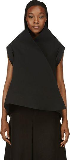 Gareth Pugh - Black Sculptural Silk Jacket