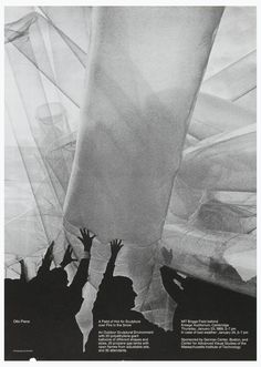 Poster, Otto Piene,  A Field of Hot Air Sculpture over Fire in the Snow, 1969, Designed by Dan Friedman