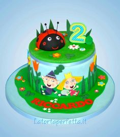 Ben and Holly cake Ben And Holly Party Ideas, Ben And Holly Cake, Ben E Holly, 5th Birthday Cake, Birthday Parties, Birthday Stuff, Birthday Ideas, Barbie Party, Character Cakes