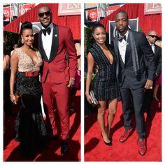 LeBron James & Fiance, Gabrielle Union & D.Wade ESPY Red Carpet