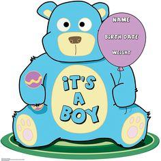 It's A Boy Teddy Bear Stand-Up - OrientalTrading.com