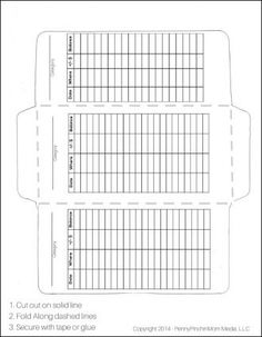 Envelope Template Printout
