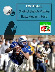 Three Word Search puzzles for winter, football or January. Easy word search for younger elementary, Medium word search for older elementary, and Hard word search for Junior High and High School. Adults would enjoy the hard word search level as well. The easy word search puzzle also has a mystery puzzle included for additional fun.An answer sheet is included for each word search level with an easily marked grid.