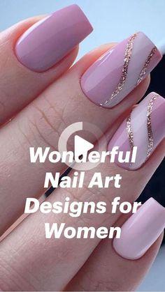 Blush Pink Nails, Purple Nails, Red Nails, Red Nail Art, Fall Acrylic Nails, Metallic Nails, Neutral Nails, Chic Nails, Stylish Nails