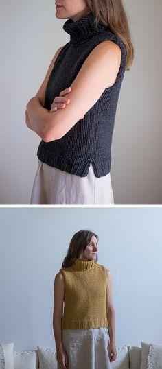How about a mini sleeveless turtleneck knitalong?