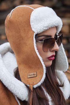 Trooper Hat, Fur Clothing, Sheepskin Coat, Stylish Hats, Down Coat, Balaclava, Handmade Clothes, Dress Codes, Partner
