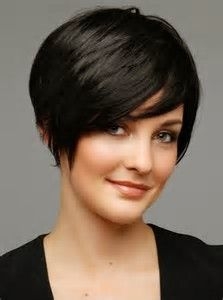 Image result for Hairstyle Thin Short Haircuts for Round Faces and Plus Size
