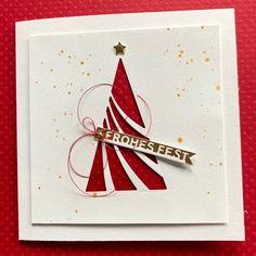 Karten-Kunst » Leuchtendroter Weihnachtsbaum