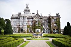 Have the fairytale wedding of your dreams in this Irish Castle! Adare Manor is gorgeous! Click for more. {BMello-Photo}