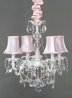 sparkling chandelier - so beautiful for a girl's nursery