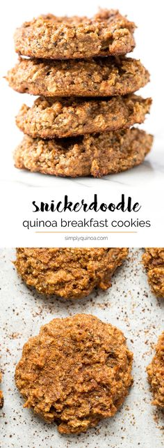 Snickerdoodle Quinoa Breakfast Cookies -- a healthy spin on a classic cookie…