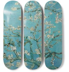 The SkateRoom - Vincent Van Gogh Set of Three Printed Skateboards - Men - Blue Felt Case, Thrasher Magazine, Almond Blossom, English Shop, Skateboard Decks, New Parents, Vincent Van Gogh, Skateboards, Surfboard