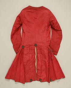 Coat (Back) Date: 1720 Culture: American or European Medium: silk Dimensions: [no dimensions available] Credit Line: Gift of M. Steampunk Pirate, Girls Cuts, Frock Coat, 18th Century Fashion, Vintage Style Dresses, Historical Clothing, Frocks, Fashion Dresses, Fashion Looks