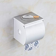 Toilet Paper Holder, Wall Mount Toilet Tray Bathroom Tissue Holder withMobilePhone Storage, Bathroom Hardware Accessories *** You can find more details by visiting the image link. (This is an affiliate link) Bathroom Trays, Wall Mounted Toilet, Neat And Tidy, Bathroom Hardware, Toilet Paper, Image Link, Canning, Storage, Accessories